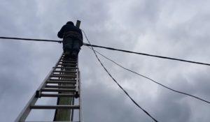 подключение электричества от столба