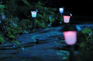 наружное освещение в ландшафте